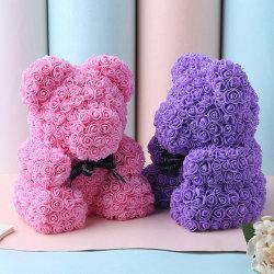 Сохранить Роз Мишка долговечные искусственных цветов Soap