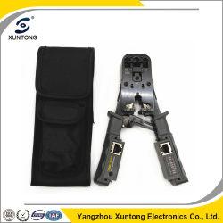 С помощью утилиты проверки сети / Multi модульный разъем обжимной инструмент для проверки и кабель