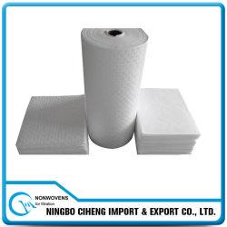Papel industrial não tecido do absorvente do petróleo da água de Meltblown PP