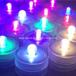 Decoração de casamento mudando de cor LED decorativas submersíveis impermeável Mini-Partido com luz de bateria para o Dia das Bruxas Natal