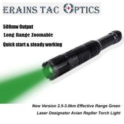 2018 Novo Feixe de Laser imagem 500MW de potência elevada gama de longo alcance efectivo de 2.5km da caça e a gripe Repelente Lanterna Laser Verde Iluminador Designador