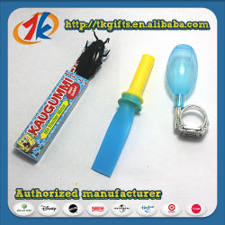 Blague jouets (fart sifflet+ring squirter+chewing-gum)