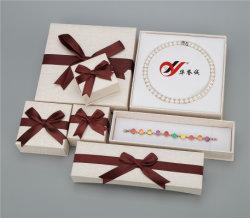 Leatheretteの表面のボール紙の宝石類の紙箱セット
