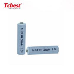 Высокая температура 1,2 В типа AAA 300 Ма/ч Аккумуляторы NiCd батарейный блок Ni-CD AAA 300 Мач