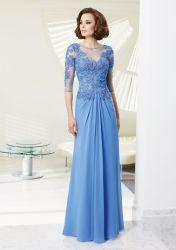 Sehen neue Mutter des Entwurfs-2020 des Braut-Kleides mit Hülseappliques-Chiffon- langer Abend-Hochzeit Partyggown durch Oberseite