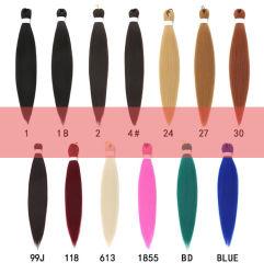 """26"""" оплетка синтетические волосы продление женщин Ez плести косичку расширений волос окрашенные волосы продление на один массовые"""