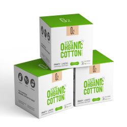 La Chine marque O2 tampon de coton organique ordinaire sanitaires culotte aptères Liner offre