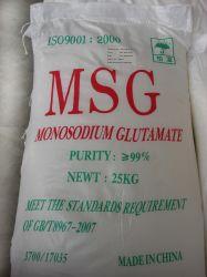 Het bulk Monosodium Witte Kristal van de Zak van China Msg van het Glutamaat