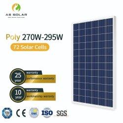 Module du panneau solaire de haute qualité PV 280W 290W 295W Poly pour utilisation à domicile solaire 280W l'énergie solaire