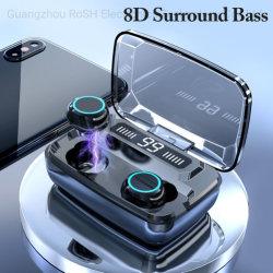 2020 Nuevo M11 Auricular de Tws 5.0 Sport Tapones de auricular estéreo inalámbrico Bluetooth Auriculares con 3300mAh digital LED de la caja de carga