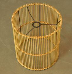 El bastidor de bambú hechas a mano de lámpara de techo con piezas de ELC no