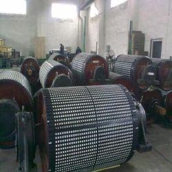 陶磁器のラギングを並べる中国のベルト・コンベヤーのドラムプーリー