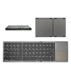 Faltender Tastatur B033 Bluetooth faltbarer drahtloser Minitastaturblock mit Berührungsfläche für Windows, Android, IOS-Tablette iPad Telefon