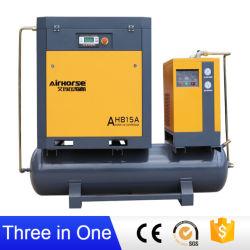 CE ISO ASME entraîné directement Oilless industrielle de l'air rotatifs à vis du compresseur de l'enregistrement haute efficacité énergétique avec l'air sécheur et le réservoir d'air