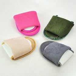 Cuatro colores de tela de toalla de felpa plegable Hotel desechables zapatilla