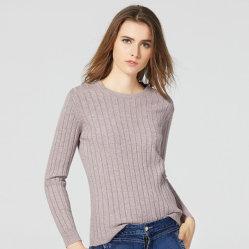 주문을 받아서 만들어진 도매 여자의 짧게 스웨터 호리호리한 단단한 둥근 목 내의