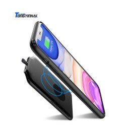 Banca mobile magnetica portatile ultra sottile Emergency su ordinazione di potere del caricabatteria di Tongyinhai la migliore RoHS Powerbank Qi Wirelss