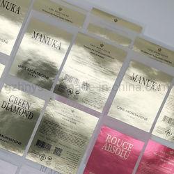 Produttore Logo del marchio privato adesivi laminati etichetta adesivi adesivi personalizzati Per confezionamento di bottiglie