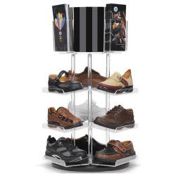 Fabrik-bereift Großhandelsqualitäts-Acryl Bildschirmanzeige-Zahnstange für Schuh-Speicher