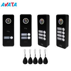 Los botones de 1-4 Video Portero intercomunicador Seguridad Villa Apartamento Casa timbre
