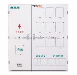 Monofásico de plástico de la caja del medidor de nueve habitaciones caja de dosificación tres filas de