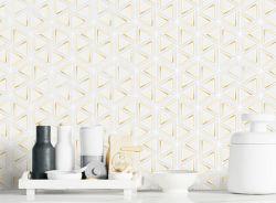 Venda por grosso de fábrica em mármore branco misturados mosaico de alumínio para painéis de parede painel contra salpicos