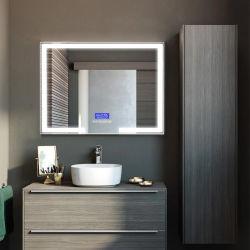 Silber der China Soem-bilden kundenspezifisches Qualitäts-25mm Badezimmer geleuchteten LED-Spiegel-Hersteller