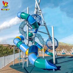 TUV スタンダードボールタワープレイグラウンドアミューズメントパーク機器子供用 幼稚園プラスチックおもちゃの子供のゲームの水公園のスライドの Playsets 屋外 プレイグラウンド設備