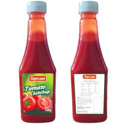 340g de Ketchup van de tomaat in Fles voor Supermarkt zonder Bewaarmiddel