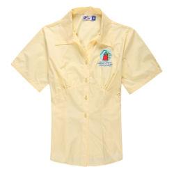 Spandex-Baumwolle gepaßtes Mädchen-Polo-Hemd 2015