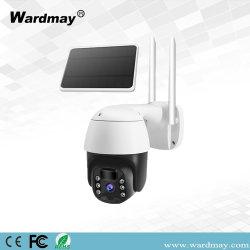 Широкий 2.8mm Wardmay ИК/теплый светодиодный источник света с двойной 2,0 МП цветная PTZ камеры 4G солнечной энергии