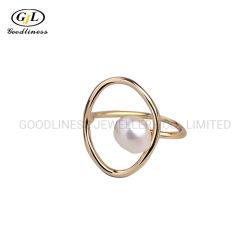 S925 de Echte Zilveren Ins van de Ring Natuurlijke Gestalte gegeven Vrouwelijke Ring van de Parel