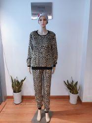 Mode d'impression de vêtements de détente en molleton Nightwear Vêtements de nuit en flanelle peignoir pyjama