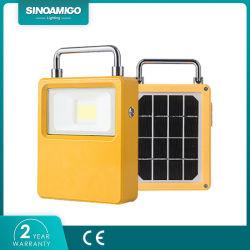 Todo-en-Uno LED solar portátil resistente al agua de la luz de linterna Solar Linterna Foco LED de exterior
