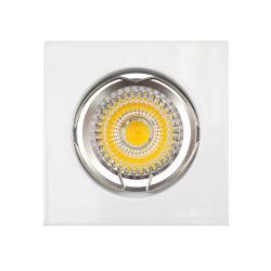Carré Blanc plafond fixe GU10 M16 Dispositif d'éclairage Downlight détenteur de logement (LT1001)
