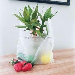 La migliore qualità ha personalizzato il sacchetto di acquisto biodegradabile della maglietta di PLA di 100% Pbat