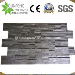 15*60cm piedra preta natural folheado de ardósia Pedra Empilhada