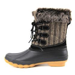 여성용 스노우 부츠 겨울철 따뜻한 여성용 덕부츠 방수 미끄럼 방지 고무 빗운동화 여성 패션 캐주얼 신발