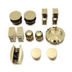 Pulido de oro baño ducha el hardware del sistema de puerta corrediza de vidrio