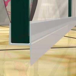 PVC H-Form 1000mm Länge für 10mm Glas Duschtür Wasser Dichtung