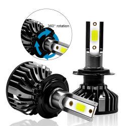 車のヘッドライトの穂軸8000lm 55W H4 LED H7 Canbus H1 H3 H8 H11 9005 9006の6000K 8000K車LEDのヘッドライトのフォグランプの球根