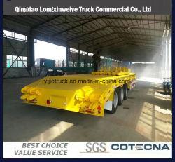 Del tri degli assi di Gooseneck 13.5m trasporto dell'escavatore della base rimorchio basso semi
