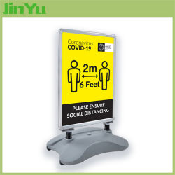 Social DistancingのためのWindmaster Sign Display Stand
