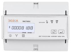 Dac7301c elektrische energiemeter met DIN-rail, AC, driefasige Modbus