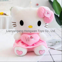 Новые высококачественные мягкие Каваий Hello Kitty игрушка фаршированные мягкой игрушки на День святого Валентина подарки