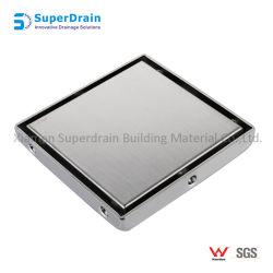 Китай атласным покрытием SUS 304 прямоугольных скрытой полу слив