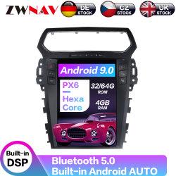 DVD-Spieler des Tesla Artandroid-9.0 des Auto-64GB für Ford-Sonde-Auto GPS-Navigations-Kopf-Geräten-Selbststereomultimedia-Spieler 2011-2019 Carplay
