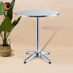 Peso ligero de acero inoxidable de alta calidad restaurante jardín Muebles de Comedor Mesa Home
