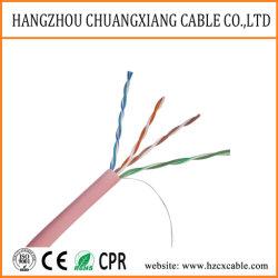 Cable LAN UTP Cat5e 24AWG PVC cable de comunicación de chaqueta de cobre Cable de red Cu/BC/CCA cable de ordenador