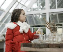 Dernière ailes Noël veste matelassée Wooly le phoque à capuchon pour vêtements d'enfants